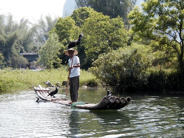 ловля рыбы на швабру